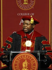 President BrianL. Johnson will step down when his contract expires June 30.