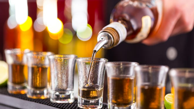 Pouring a shot