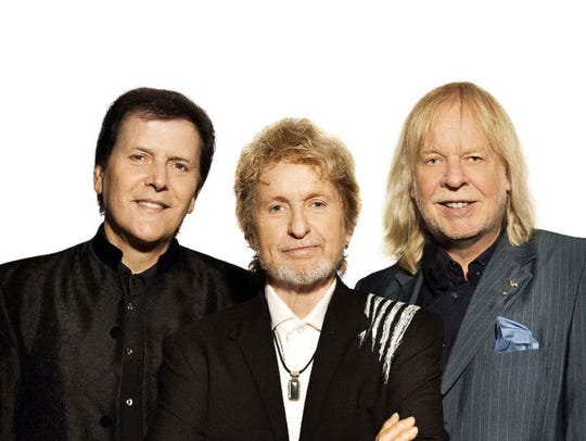 From left, Trevor Rabin, Jon Anderson and Rick Wakeman
