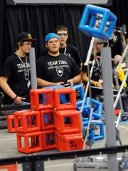 The Kimball Area High School team takes part in competition