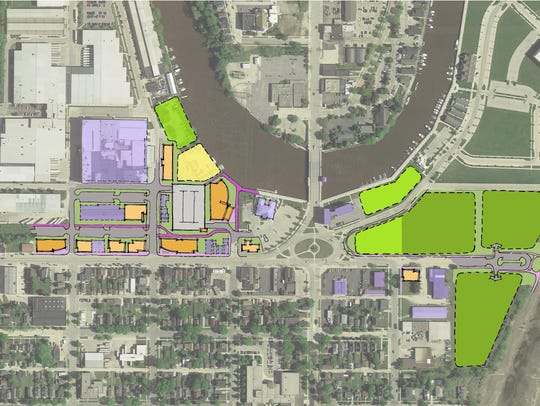 Innovation District potential layout along Indiana