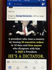 This meme from the Facebook group Occupy Democrats goes overboard, a writer says.