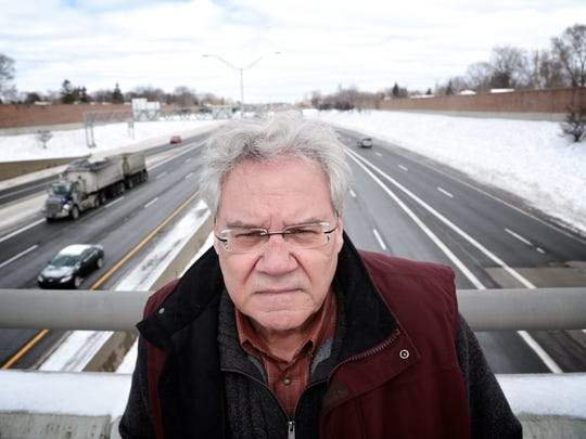 Royal Oak Mayor Jim Ellison photographed near the intersection of I-696 and I-75 on Wednesday, March 2, 2016.