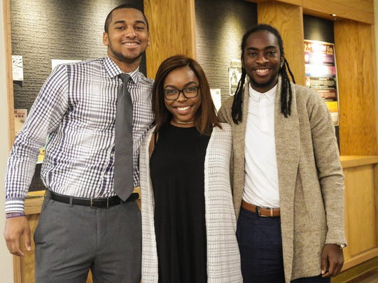 (From left to right) Cameron Floyd, Brianca Wright, and Le'Otis Boswell-Johnson make up the Sons of Sophistication, a local youth mentoring program.