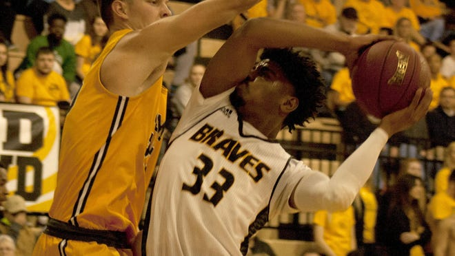 Ottawa University senior forward Jaquan Daniels was selected to the KCAC Men's Basketball Preseason team by the conference coaches. [HERALD FILE PHOTO].