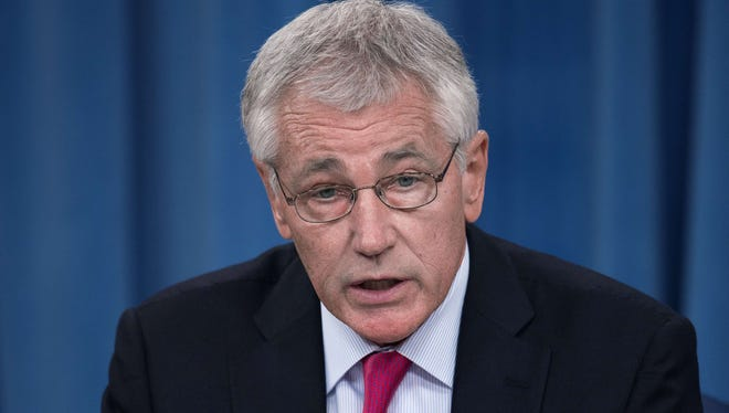 Defense Secretary Chuck Hagel announces a reshuffling of Pentagon offices that he says will save $1 billion over five years.