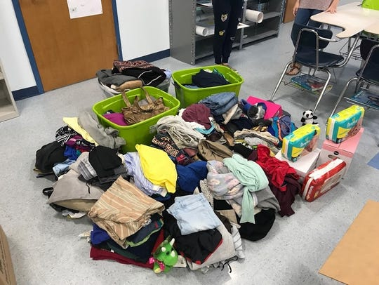 Donations brought in by students of Martin County High