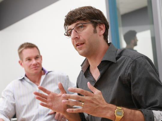 Center Electric co-founder Jay Adelson (right), native Detroiter, entrepreneur and venture capitalist based in San Francisco, and Andy Smith, General Partner of Center Electric.