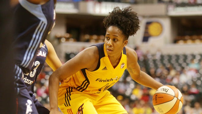Shenise Johnson scored 18 points in Indiana's win over the weekend.