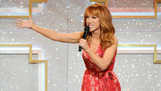 Kathy Griffin on stage at the 41st annual Daytime Emmy Awards at the Beverly Hilton Hotel in Beverly Hills, California on June 22, 2014.