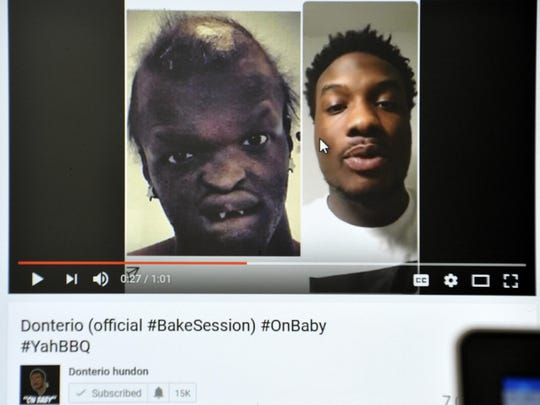 Jahmel Binion, left, has been the subject of ridicule on YouTube.