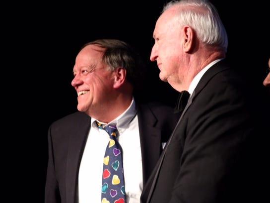Rick Hulefeld- champion for Education Award Winner and Mer Grayson.JPG