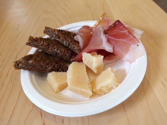 Speck, Parmigiano-Reggiano and rye bread at Pa'La.