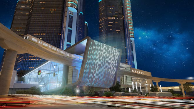 General Motors unveiled Friday, January 22, 2016, its plans for a major addition to its Renaissance Center World Headquarters including a giant video screen facing Jefferson Avenue.