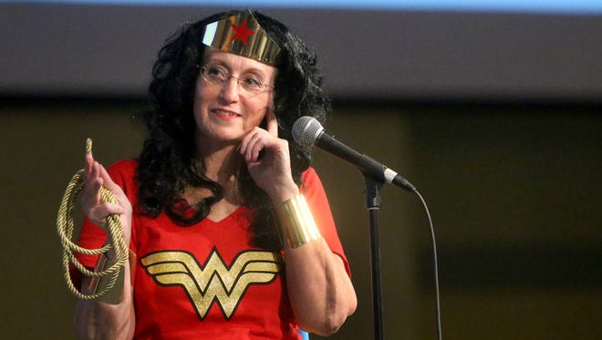 The Read To Succeed 2015 Celebrity Spelling Bee, was held at World Outreach Church, on Tuesday, Nov. 10, 2015. Seventeen spellers competed plus one mystery speller, Wonder Woman.
