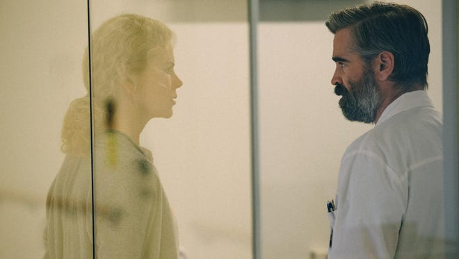 Steven (Colin Farrell) and his wife, Anna (Nicole Kidman), are faced with murdering a loved one in 'The Killing of a Sacred Deer.'