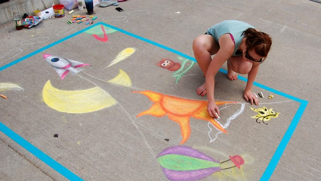 Dozens of chalk artists will attend Bridge Fest on Thursday, June 15.