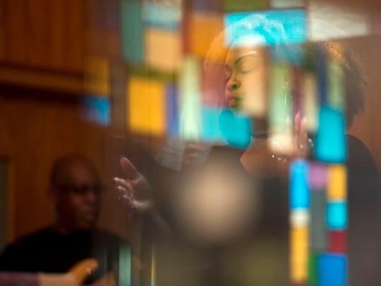 Pamela Deathridge of the Knoxville Opera Gospel Choir
