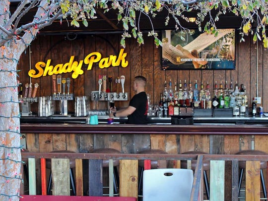 The outside bar at Shady Park Tempe in downtown Tempe.