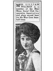 Courier-Journal clip of Lillian Ruth Willman Ernst
