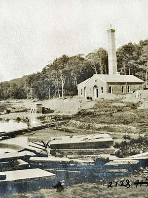 The City of Orange water pumping station at Campbell's Pond in South Mountain Reservation.