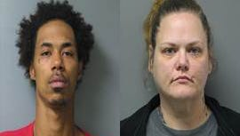 Derrick Johnson, left, and Joy Johnson, right. The two were arrested Friday, Jan. 29 on various drug charges relating to the possession and selling of heroin.