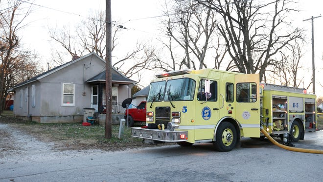 Two children and one adult were transported to Mercy Hospital after a house fire caused significant damage to a home on the 2100 block of West Lee Street on Thursday, Jan. 14, 2016.