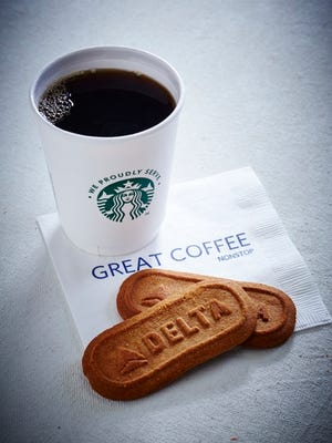 Delta Air Lines has expanded service of Starbucks coffee to every one of its flights worldwide.
