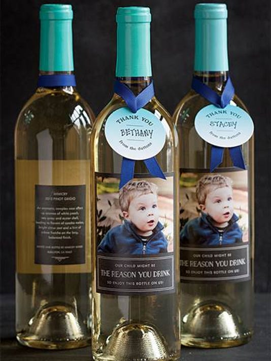 Best teacher gift ever? Personalized wine bottle label ...
