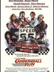 """""""The Cannonball Run,"""" with Burt Reynolds and Sammy Davis Jr., was made in 1981."""