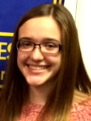 Morgan Hoak, Rotary student of the month for November