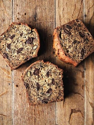Bored? Start baking Tom Douglas's delectable banana loaf with chocolate and walnuts