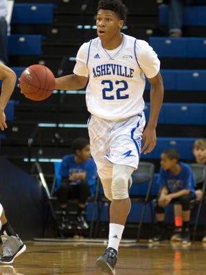 Dwayne Sutton scored 16 points for UNC Asheville Thursday night.