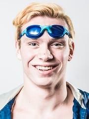 Dallastown's Spencer Hill, a GameTimePA all-star swimmer. Portrait taken Monday, March 21, 2016, at Northeastern.