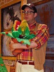 """Ben Earman as Seymour in Vero Beach Theatre's """"Little"""