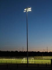 The city of Farmington has started a $300,000 athletic field renovation project by installing new lights at the college soccer and softball fields.