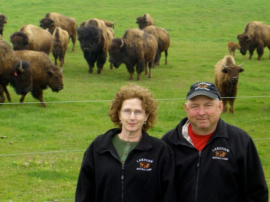 Barbara and Al Weyker of Lakeview Buffalo Farm in Belgium sell bison meat from their family farm, select retail stores, State Fair and Milwaukee County Winter Farmers Market.