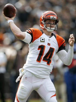 Cincinnati Bengals quarterback Andy Dalton was not sacked a single time in the Bengals' 33-13 victory over Oakland.