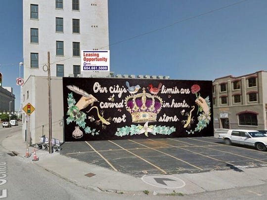 This is a mock-up of a CincyInk mural planned for Sycamore