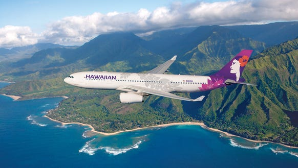 In an image provided by the airline, Hawaiian Airlines