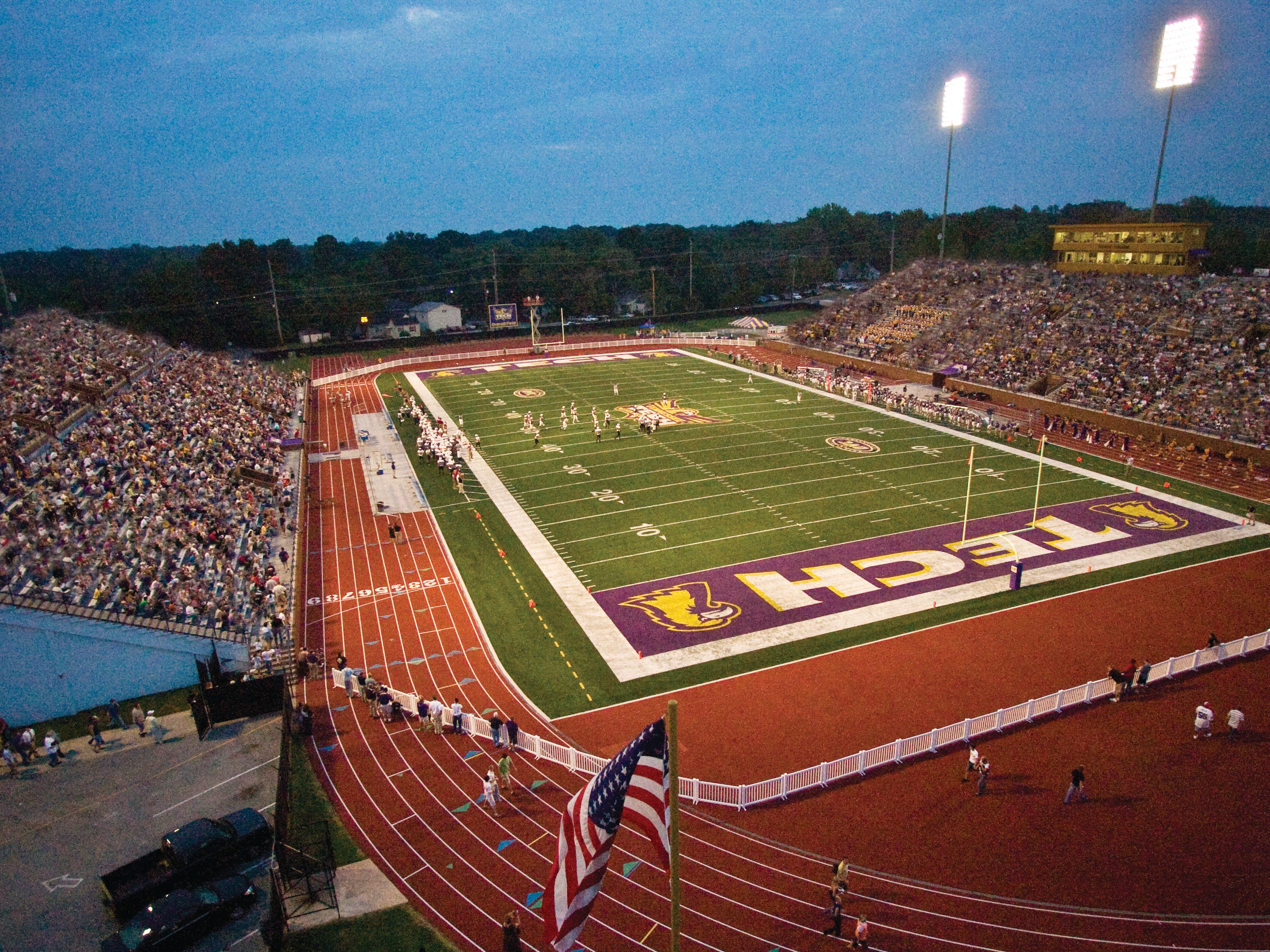 Tennessee Tech's Tucker Stadium is the site for the BlueCross Bowl football state championship games.