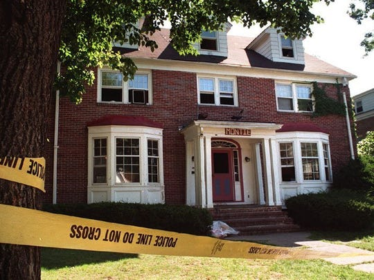 Montie House in East Lansing which police searched