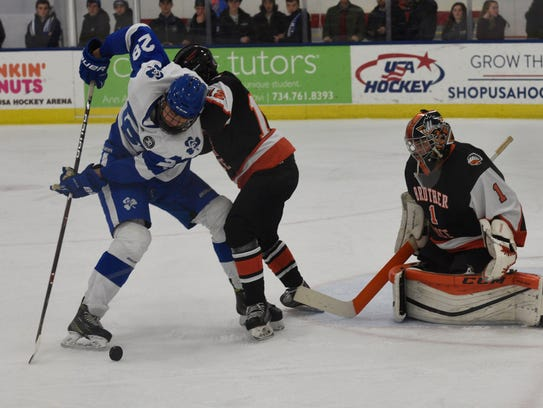 Among teams slated to skate during the 'Showcase' are Catholic Central and Birmingham Brother Rice, shown from a recent contest.