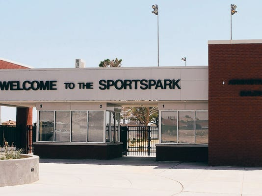This is the entrance to the Sportspark.