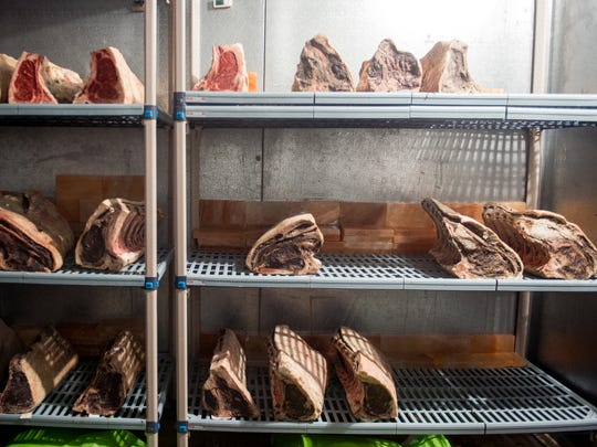 Short loins and ribeyes go through the dry-aging process