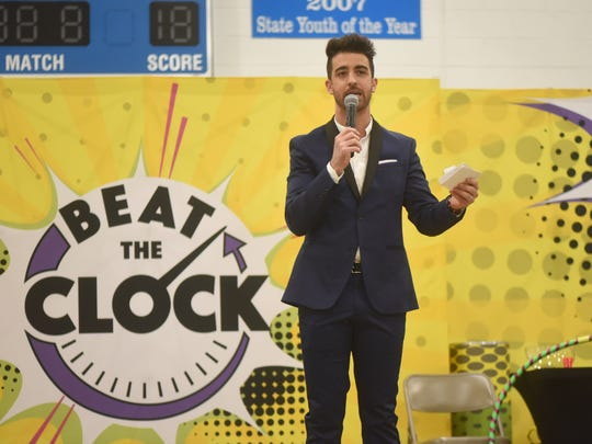 Hillsdale native Paul Costabile  at Hawthorne's Boys & Girls Club for a live pep rally event in celebration of Universal Kids' revival of the iconic game show Beat the Clock.