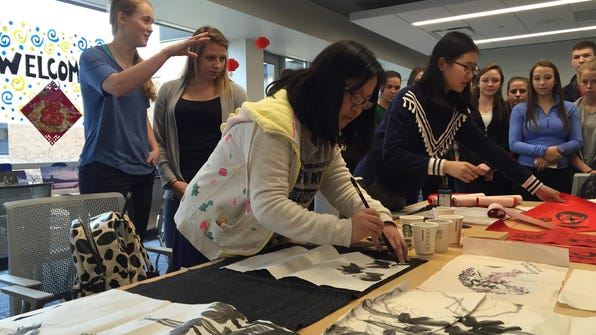 CHINESE painting lettering