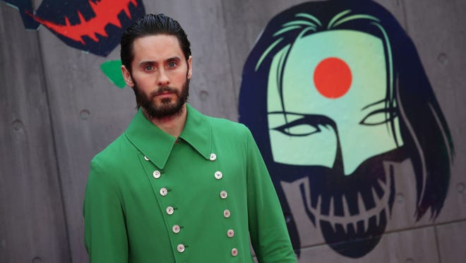 Jared Leto arrives to attend the European premiere of 'Suicide Squad .'