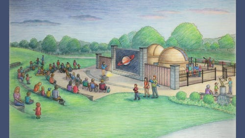 Exelon Generation, in conjunction with Rittenhouse Astronomical Society, unveiled a new astronomy observatory and program at Muddy Run Park, Lancaster County, on Oct. 22. Pictured is an artist rendering of the observatory.
