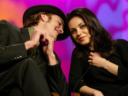 FILE - FEBRUARY 27: According to reports February 27 Mila Kunis and Ashton Kutcher are engaged. HOLLYWOOD, CA - JANUARY 16:   Actor Ashton Kutcher (L) and Actress Mila Kunis during the FOX Television Critics Association Press Tour on January 16, 2004 at the Renaissance Hollywood Hotel in Hollywood, CA. (Photo by Kevin Winter/Getty Images)